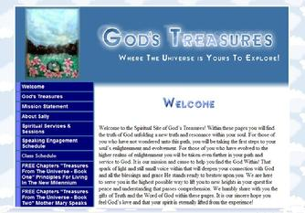 Click on this image and let the Angels take you to God's Treasures website