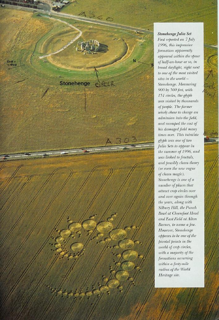 1996 Julia set Crop Circle, ftrom a book I picked up in Glastonbury