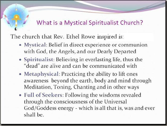 We are Mystical, Spiritualist and Metaphysical Seekers